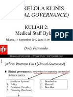 Dody Firmanda 2012 - Materi Kuliah Clinical Governance (2 dari 16)