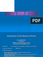 International Systems and Standards