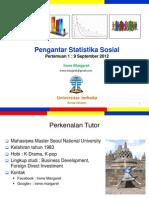 Pengantar Statistik Sosial Pertemuan1 Modul1 (20120909)