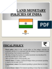 Fiscal and Monetary Policies of India