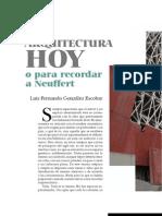 La Arquitectura Hoy, Luis Fdo Gonzalez