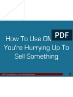 When You Are in a Hurry to Sell Online by Jomar Hilario OMC2 PDF