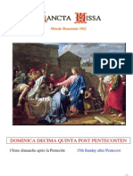 Livret Messe du 15e Dimanche après la Pentecôte / Booklet Mass of the 15th Sunday after Pentecost