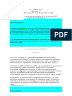 Ley 784 de 2002 para instrumentadores quirurgicos
