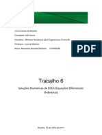 Soluções Numéricas de EDOs (Equações Diferenciais Ordinárias)