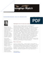 Innovation Watch Newsletter 11.18 - September 8, 2012