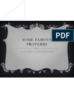 Some Famous Proverbs