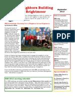 September 2012 Newsletter