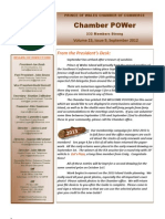 September 2012 POWer Newsletter