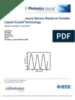 Optical Fiber Pressure Sensor Based on Lcd