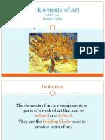 EDUC 222 Presentation the Elements of Art