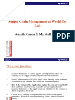 Supply Chain Management at World Co , Ltd | Supply Chain | Inventory