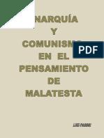 Anarquía y comunismo en el pensamiento de Malatesta