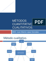 Métodos cuantitativos y cualitativos