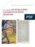 Presencia de relaciones causales en los textos de estudio- Beatriz Hall & Marta Marín