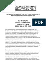 Tragedias Maritimas de Importancia en Chile