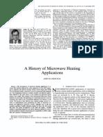 Artigo - A History of Microwave Heating Applications