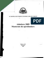Admitere Master 2009