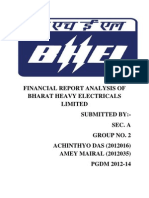 BHEL RATIO ANALYSIS