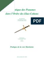 51893243 Pratique Des Psaumes Ordre Elus Cohens