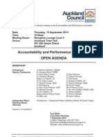 Accountability and Performance Committee agenda Thursday 13/SEP/12