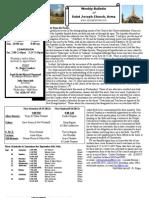 St. Joseph's September 9, 2012 Bulletin