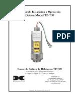 Tp-700_im_r2-01 Spanish Manual Del Sensor Detector de h2s Sulfuro de Hidrogeno