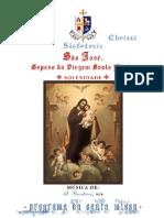 Programa da Missa de S. José