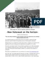 New Holocaust on the Horizon