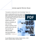 Raising Awareness Against Women Abuse