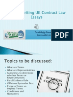Tips in Writing UK Contract Law Essay