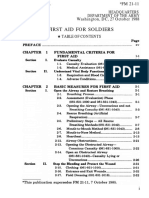 First Aid Packege Guide(US) Army