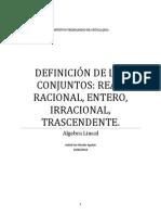 DEFINICIÓN DE LOS CONJUNTOS