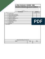 Check list de verificação das condições de segurança de Dobradeira hidraulica
