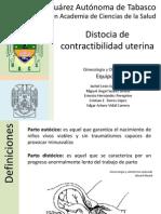 Distocia de Contractibilidad Uterina
