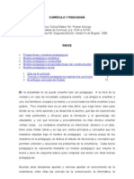 Curriculo y Pedagogia