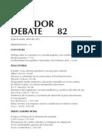 Ecuador Debate 82