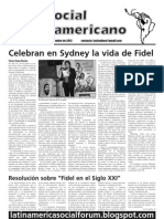 `Foro Social Latinamericano', Green Left Weekly's Spanish-language supplement, September 2012 issue