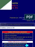 Peru - Pagos a Cuenta de Renta a Partir de Agosto-2012