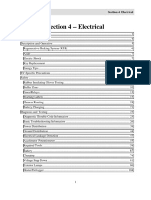 ford think service manual - section 4 electrical | battery charger | battery  (electricity)  scribd