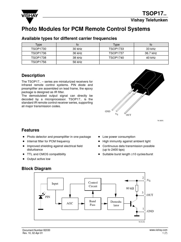 Ir Receiver Tsop1738 Infrared Signal Electrical Engineering Remote Control Circuit Diagram