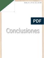 Conclusiones finales, Jornadas EDES. Sevilla, 2011