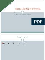 Asas Membaca Kaedah Fonetik