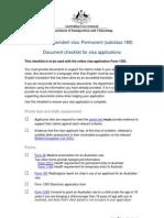 189 Applicant Checklist