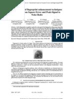 1 Jan 2011 Comparison of Fingerprint Enhancement Techniques Through Mean Square Error and Peak-Signal to Noise Ratio