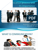 Communication process and its importance