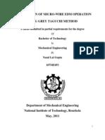 1optimization of Micro-wire