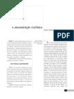 A ARGUMENTAÇÃO PLATÔNICA - Franco Trabattoni