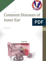 Common Diseases of Inner Ear