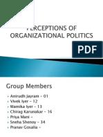 Perceptions of Organizational Politics